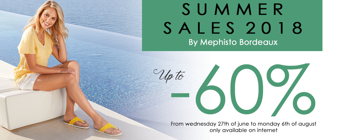Sales summer 2018 Mephisto Bordeaux